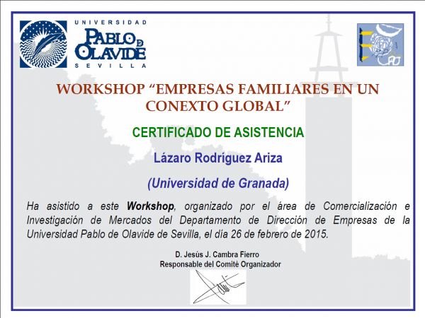 workshop pablo olavide cef ugr