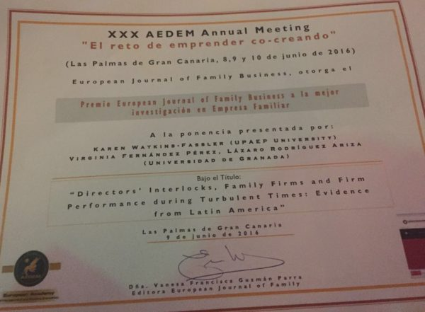 CefUGR premio aedem empresa familiar