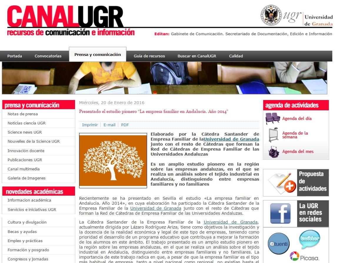 estudio empresa familiar andalucia canal ugr